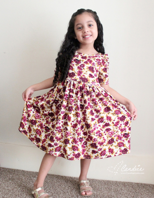 The Calabria Dress PDF Pattern by LilLuxeCollection Sewn by Candice Ayala for Cali & Co Blog