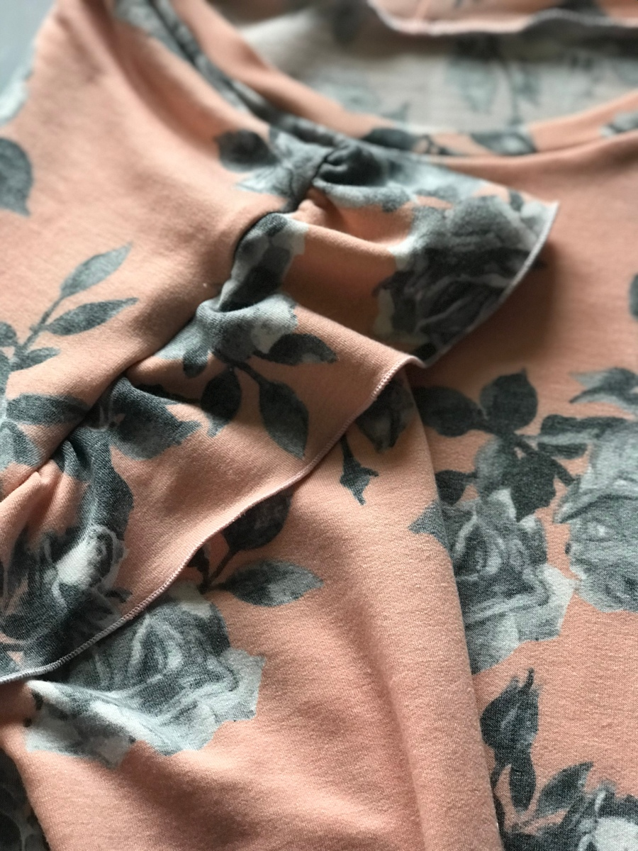 Floral French Terry Kyoto Sweater