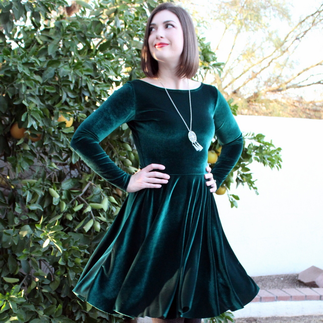 A Stretch Velvet Holiday Dress