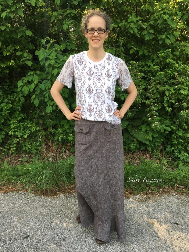 Brown Linen Skirt 1
