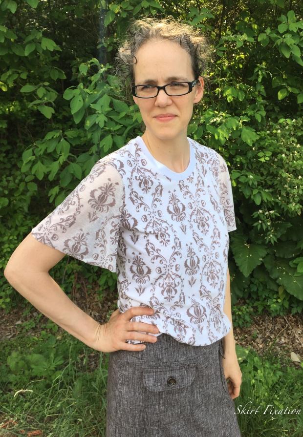Brown Linen Skirt 3
