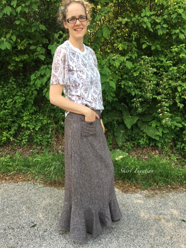 Brown Linen Skirt 4